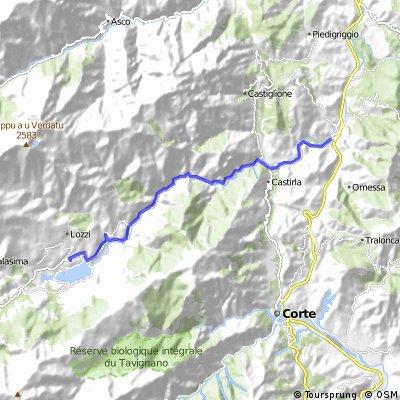 1.etapa - Etapa z Francarda údolím k přehradě Calacuccia