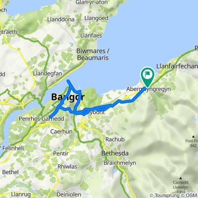 A55, Abergwyngregyn, Llanfairfechan to A55, Abergwyngregyn, Llanfairfechan