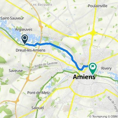 De 125 Chemin de la Marine, Dreuil-lès-Amiens à 2bis Boulevard du Cange, Amiens