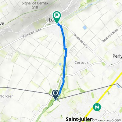 Itinéraire vers Route de Soral 113B, Bernex