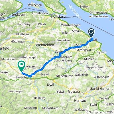 Buchenweg 12, Uttwil nach Wilerstrasse 4, Münchwilen