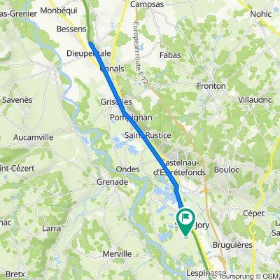 De 3 Impasse de la Violette, Saint-Jory à 2 Impasse de la Violette, Saint-Jory