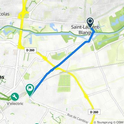 De 1 Rue Laurent Gers, Saint-Laurent-Blangy à 9 Rue du Maréchal de Lattre de Tassigny, Arras