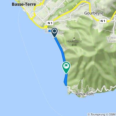 Itinéraire à partir de Boulevard Amédée Valeau, Basse-Terre