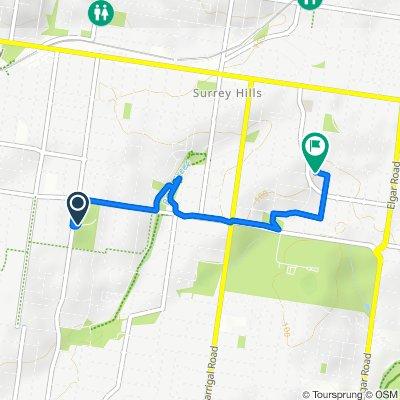 Route to 19 Elm Street, Surrey Hills