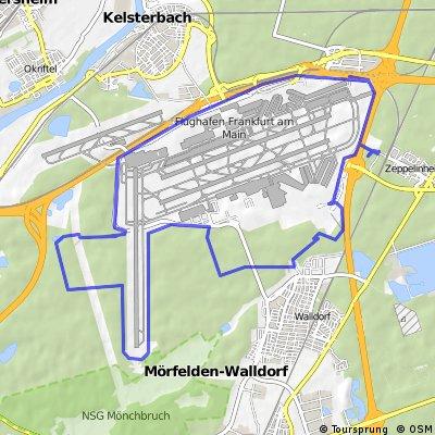 Geocaching Fahrradtour um den Frankfurter Flughafen
