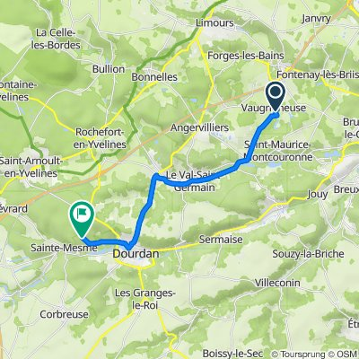 Itinéraire à partir de 5bis Rue de la Prédecelle, Vaugrigneuse