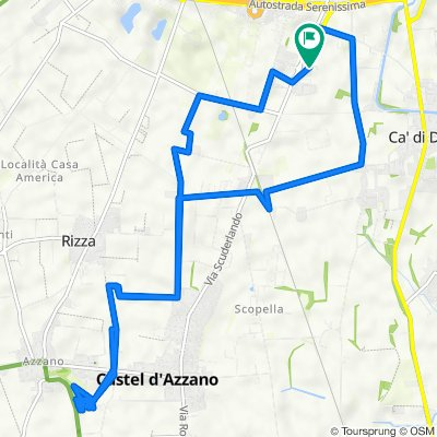 Da Via Sacra Famiglia 5, Verona a Via Sacra Famiglia 5, Verona