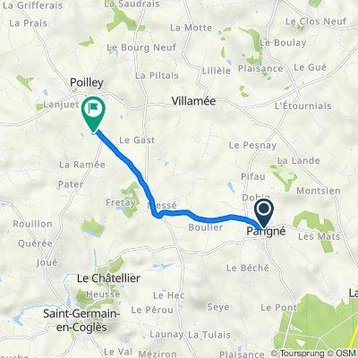 De 26 Rue des Écoles, Parigné à D798, Poilley