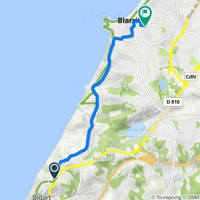 De 2–6 Rue Tutilenia, Bidart à 49 Avenue de Verdun, Biarritz