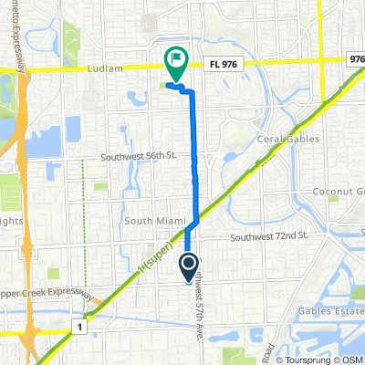 5785 SW 80th St, South Miami to 4300 SW 58th Ave, South Miami