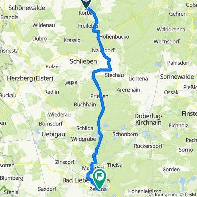Zur Blaue 6, Lebusa nach Alter Kraupaer Weg 21, Bad Liebenwerda