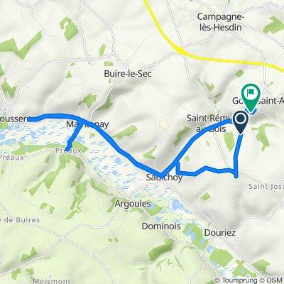 De D137, Gouy-Saint-André à Rue de Saint-Rémy, Gouy-Saint-André