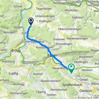 Anemonenweg 3, Würenlingen nach Buechstrasse 11, Würenlos