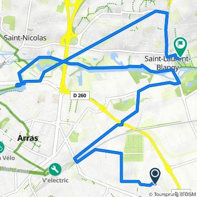 De 79 Rue de Bruxelles, Arras à Rue Laurent Gers, Saint-Laurent-Blangy