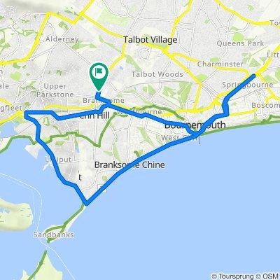 53 Alder Road, Poole to 51 Alder Road, Poole