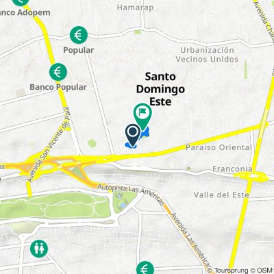 De Calle Milán, Santo Domingo a Calle Roma, Santo Domingo