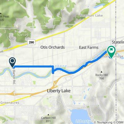 3025 N Barker Rd, Spokane Valley to 3583–3867 N Idaho Rd, Liberty Lake