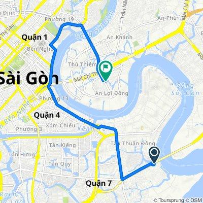 Bridge Phu My, Ho Chi Minh City to Street D9, Ho Chi Minh City