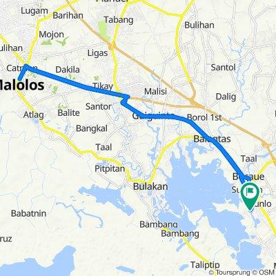 Route to Bambang Road 345, Bocaue