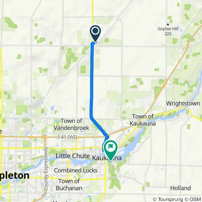N4214 Killarney Ln, Appleton to 579–699 Dodge St, Kaukauna