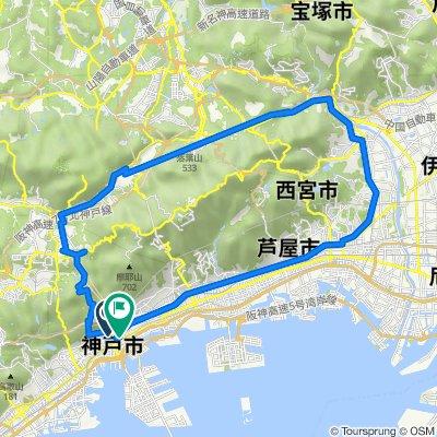12-3, Nakayamatedori 1-Chōme, Chuo, Kobe to 4-8, Kumoidori 3-Chōme, Chuo, Kobe