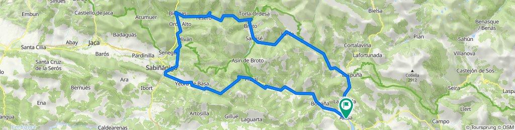 Biescas-Ainsa-Biescas (por Añisclo)