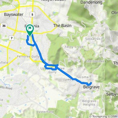 Park Crescent 34, Boronia to Park Crescent 34, Boronia