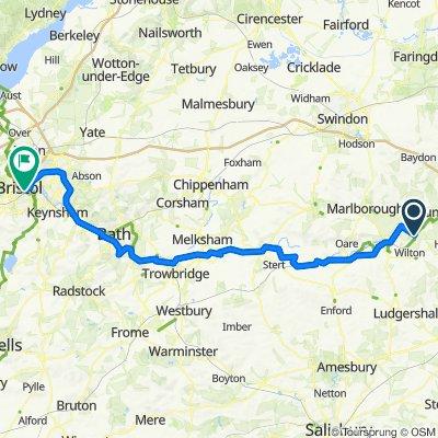Great Bedwyn to Bristol day 2✌️