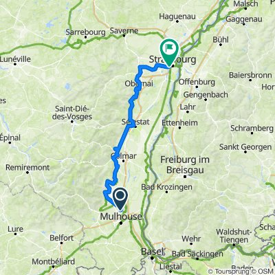 Wittenheim - Strasbourg (Sélestat étape)