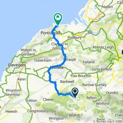 Route from Tanda, Cooks Bridle Point, Bristol