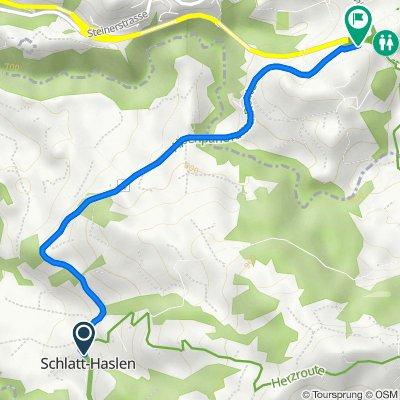 Dorfstrasse 40, Haslen AI to Alte Haslenstrasse 10, Teufen AR