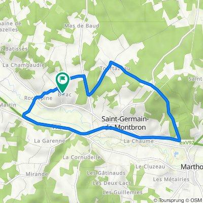 De 454 Rue des Hirondelles, Saint-Germain-de-Montbron à 406 Rue des Hirondelles, Saint-Germain-de-Montbron