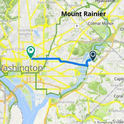Anacostia Riverwalk Trail, Washington to 800 Mt Vernon Pl NW, Washington