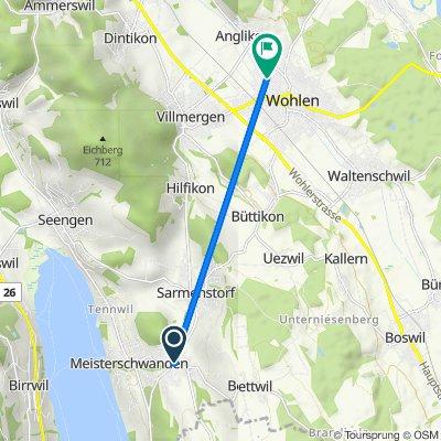 Sarmenstorferstrasse 4, Fahrwangen nach Hainbuchenweg 1, Wohlen
