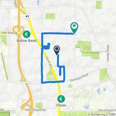 615 Romona Rd, Wilmette to 2707 Lake Ave, Wilmette