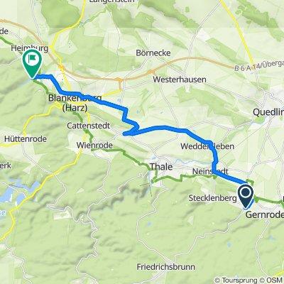 Friedrichsdorfstraße 5, Quedlinburg nach Michaelstein 5, Blankenburg (Harz)