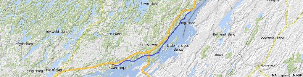 Gananoque: St. Lawrence Recreational Trail (38km)