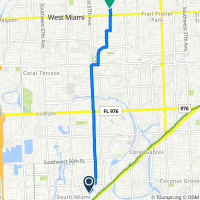 5810 SW 66th St, South Miami to 5251 SW Fifth Terr, Miami