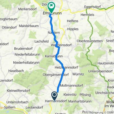 Weichselgasse 42, Harmannsdorf nach Hauptplatz 5a–11, Ernstbrunn