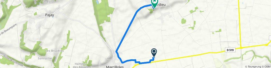 De 312 Impasse des Alpes, Marcilloles à 335 Lotissement L'Orée du Parc, Sardieu