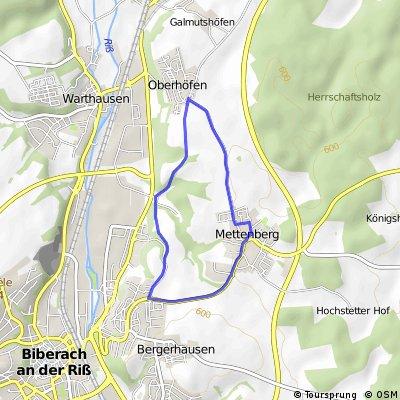 Mettenberg-Oberhöfen-Talfeld-Mettenberg