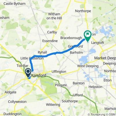 8 Goody Rudkin Close, Stamford to King St, Baston, Peterborough