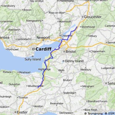 Amanda Day 3 - Taunton to South of Gloucester