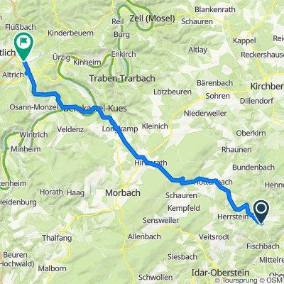 Hauptstraße 2, Berschweiler bei Kirn nach Petrusstraße 12, Wittlich