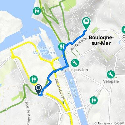 Boulevard Jean Jaurès, Boulogne-sur-Mer naar 20–34 Boulevard de Clocheville, Boulogne-sur-Mer