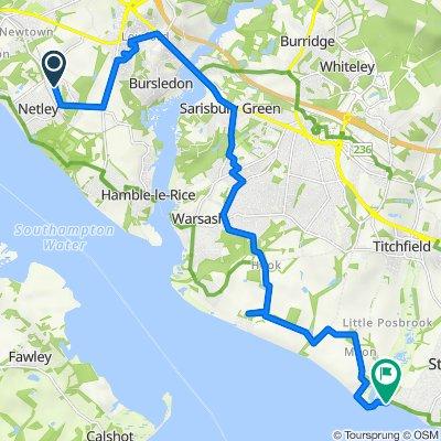 1 Wootton, Southampton to 28–40 Cliff Road, Fareham