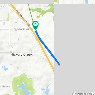 600 N I-35E Frontage Rd, Lake Dallas to 600 N I-35E Frontage Rd, Lake Dallas