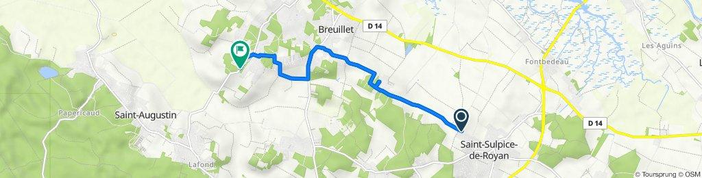 De 60 Route du Stade, Saint-Sulpice-de-Royan à 33 Route de Saint-Augustin, Breuillet