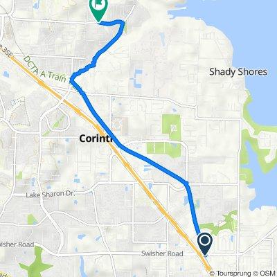 600 N I-35E Frontage Rd, Lake Dallas to 6801 Edwards Rd, Denton